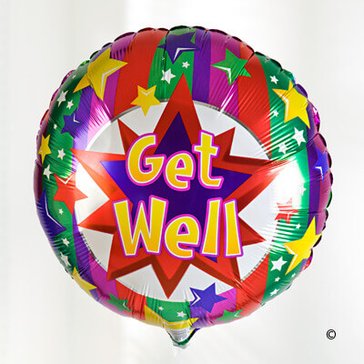 Get well soon balloon