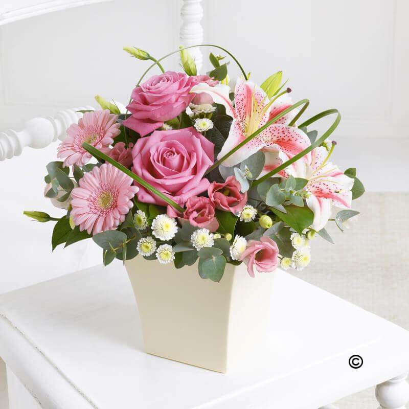 Exquisite arrangement pink