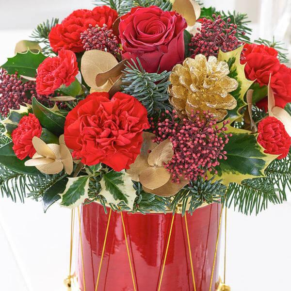 festive floral drum