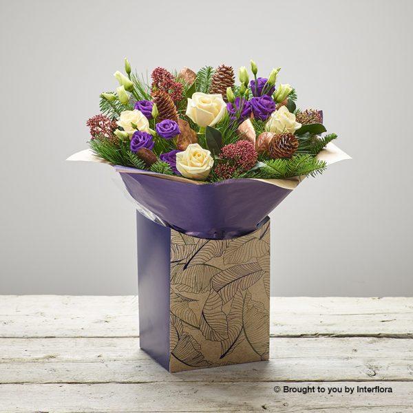 sweet sugarplum gift box of flowers