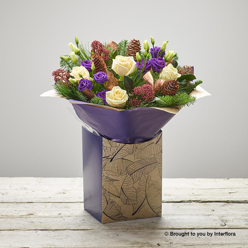 sweet sugarplum gift box of flowers