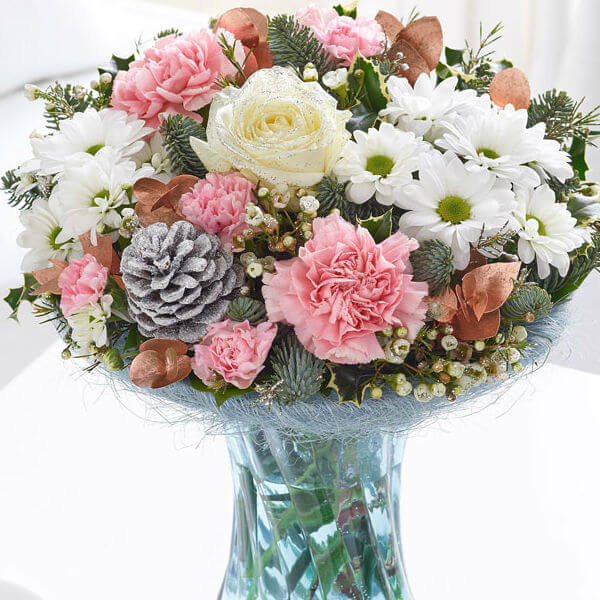 Winter vase of flowers
