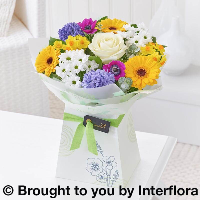 Spring gift box of flowers