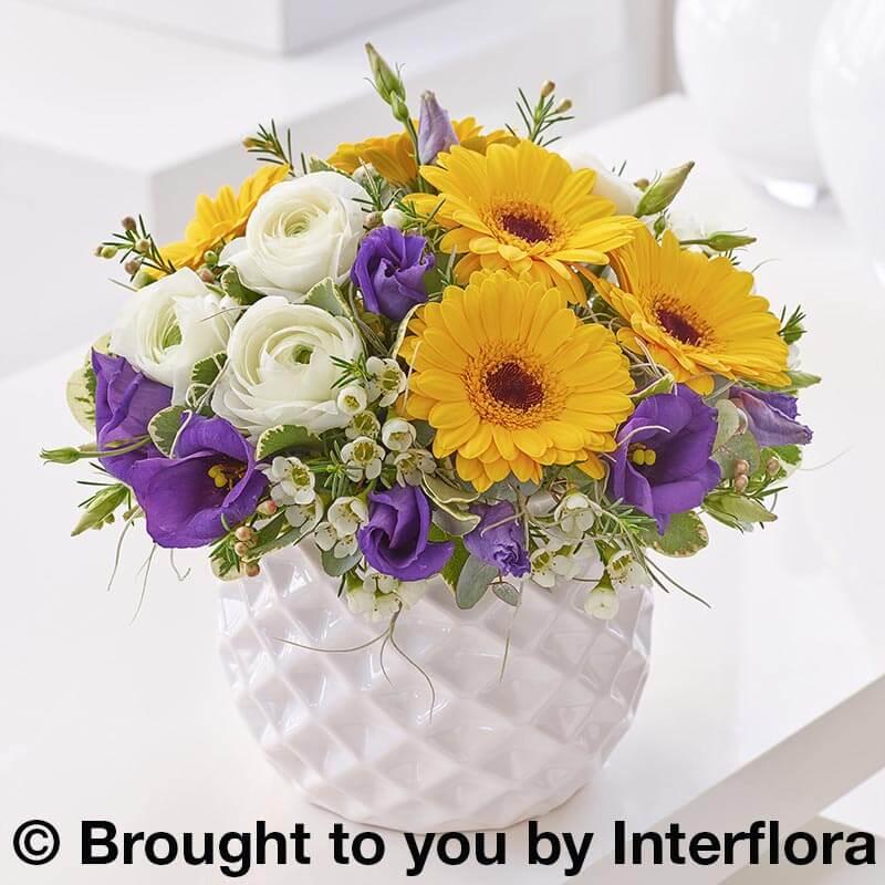Spring arrangement of cut flowers