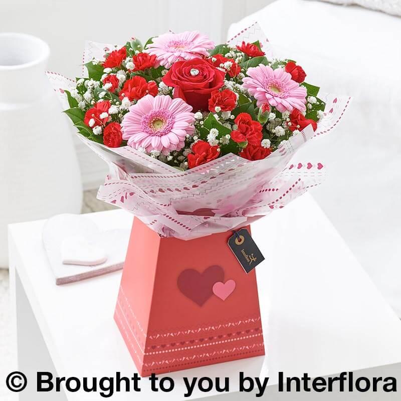 valentines posy bouquet