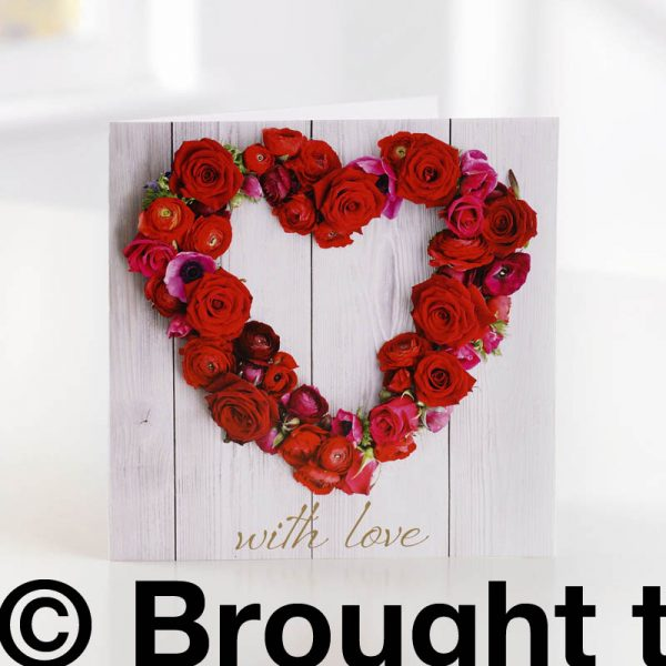 greeting card with love