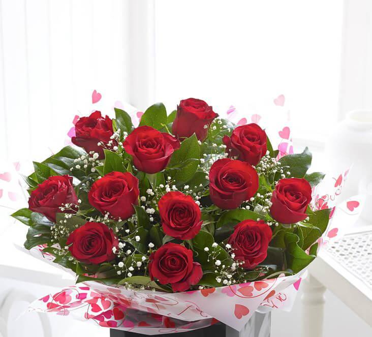 Twelve Red Rose Bouquet