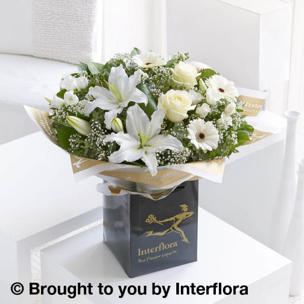 Hand-tied Bouquet of White Flowers