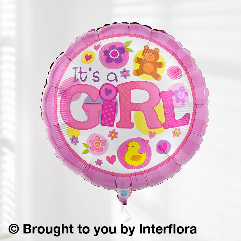 balloon for baby girl
