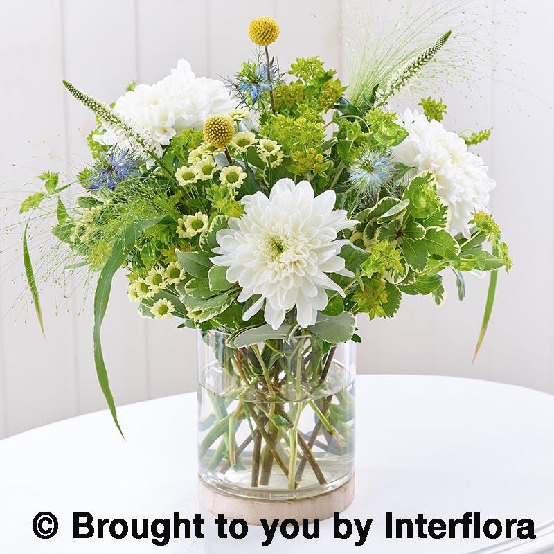 summer vase of cottage garden flowers