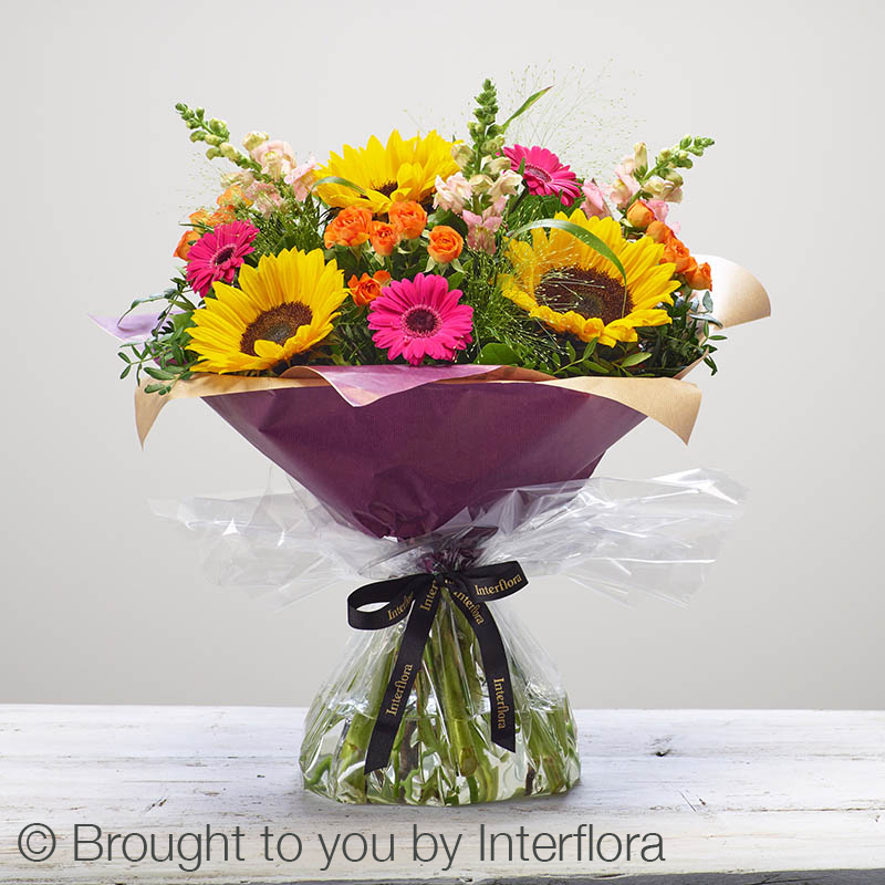 Wild at Heart Bouquet with Sunflowers